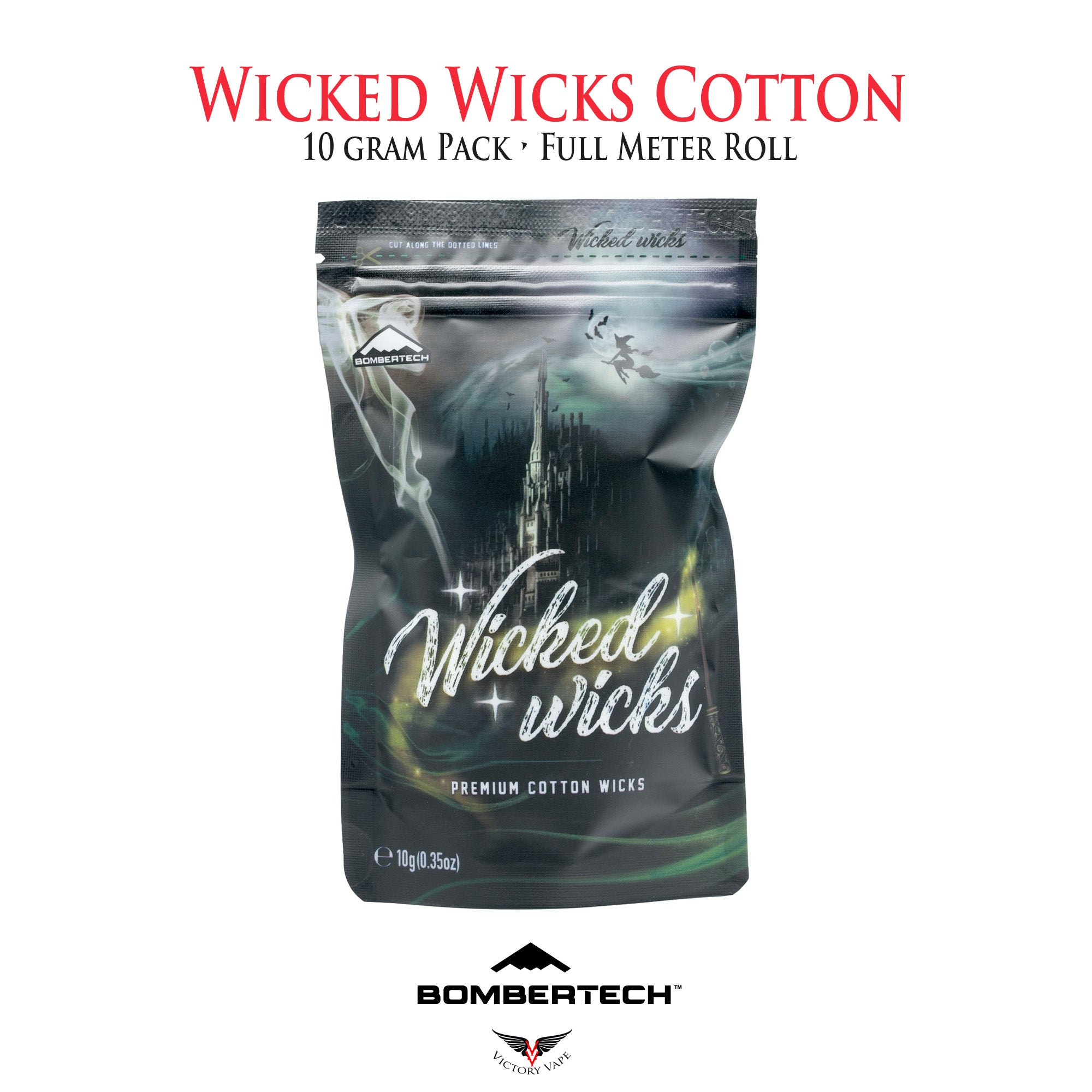 Wicked Wicks Premium Cotton Wicks organic cotton cotton Bombertech