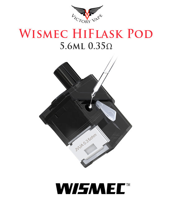 Wismec HiFlask Replacement Pod • 5.6ml 0.35Ω