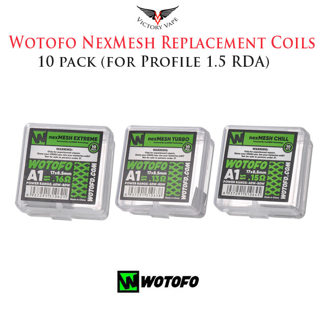 WOTOFO NEXMESH A1 REPLACEMENT COILS • 10 Pack (for Profile 1.5 RDA)