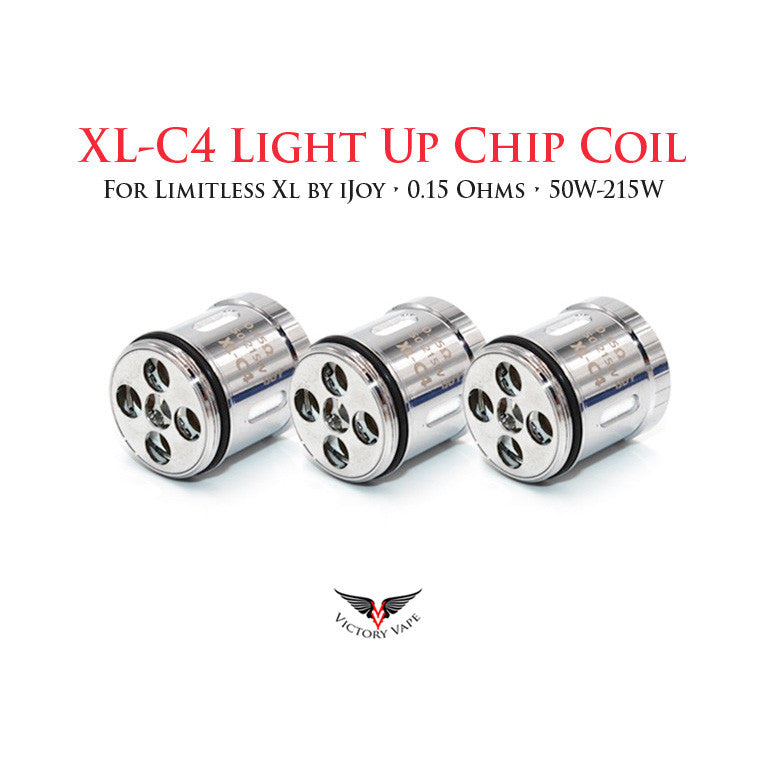 Light Up Chip Coil by iJoy for Limitless XL • 3 pack