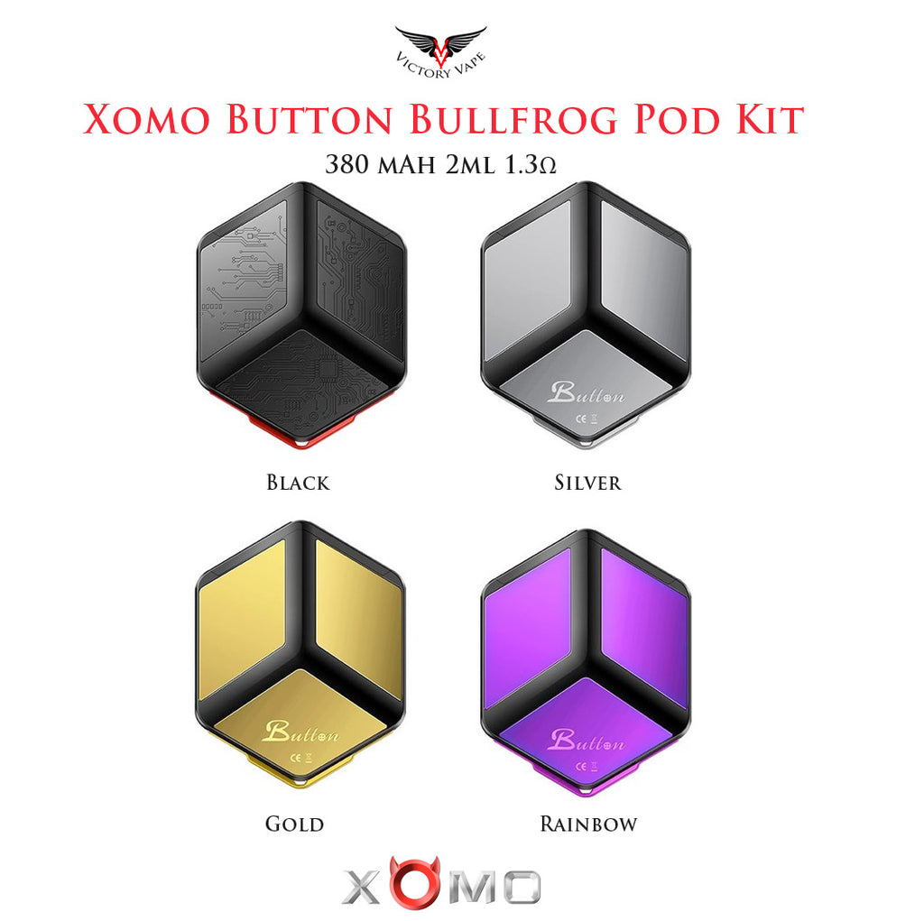 Xomo Button Bullfrog Pod Starter Kit • 380 mAh 2ml 1.3Ω