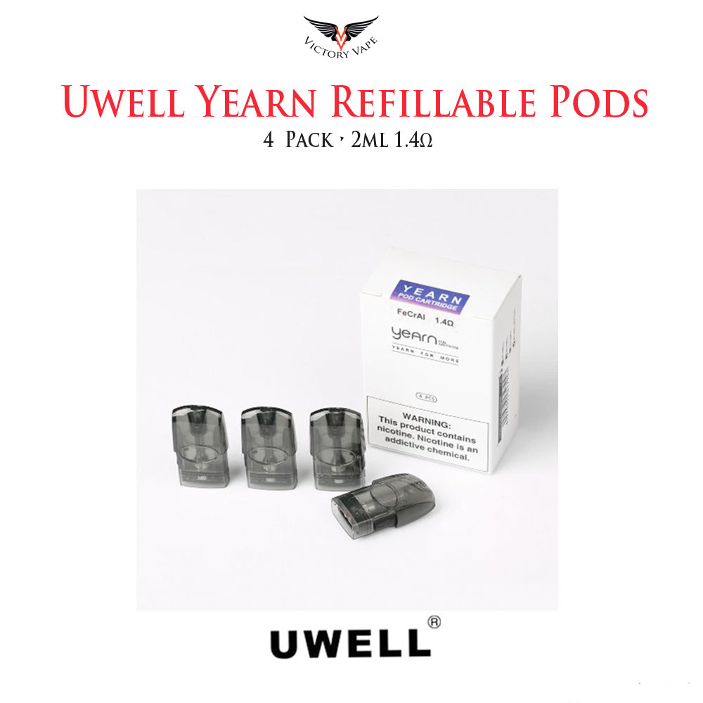 Uwell Yearn Refillable Pod Cartridge • 4 Pack 1.4Ω 1.5ml