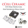 Vaporesso Giant Dual Tank Replacement CCELL-3C Coil • 3 pack