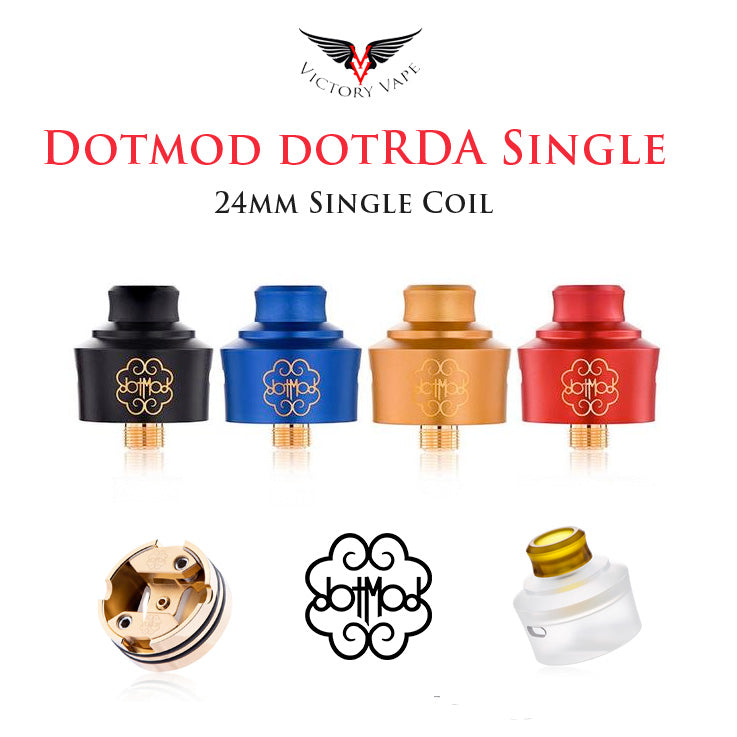 DOTMOD dotRDA SINGLE COIL RDA • 22/24mm with beauty ring