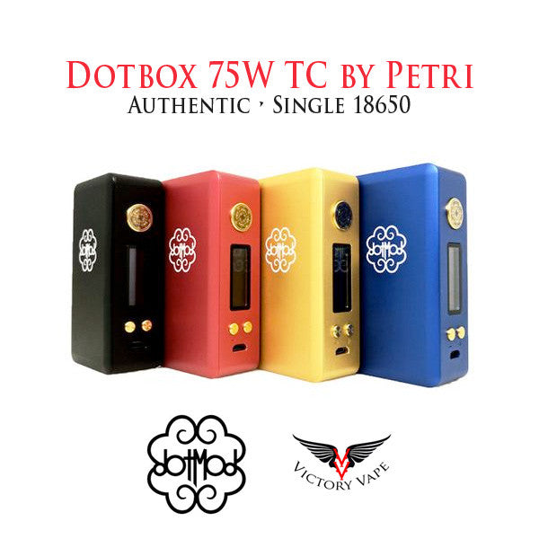 Dotbox 75W TC vv/vw box mod by Petri