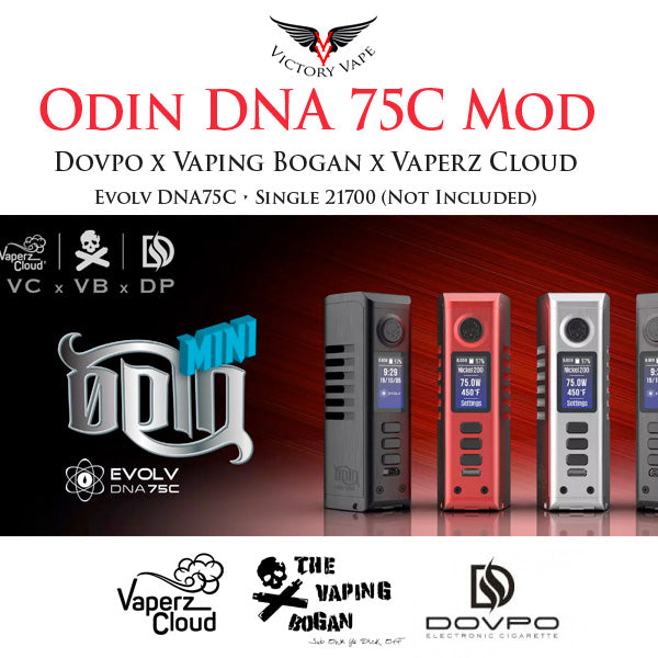 Dovpo x Vaperz Cloud x Vaping Bogan ODIN MINI DNA75C vv/vw Mod