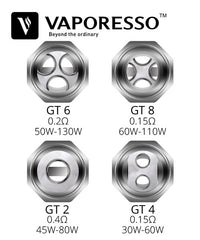 Vaporesso GT Core Coils • 3 Pack • For NRG Tank