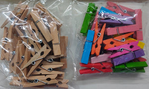 Wooden Clips - Small