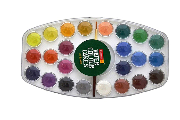 Camlin Kokuyo Student Water Color Cake 24 Shade Plastic Box