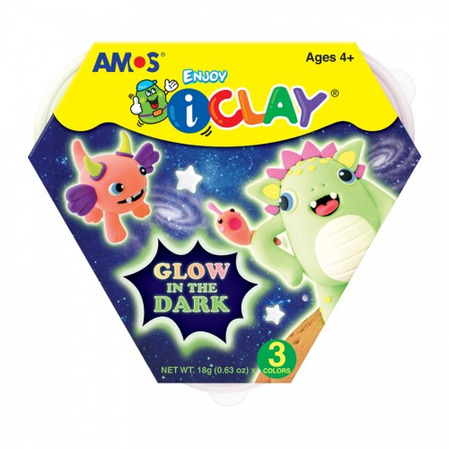AMOS I CLAY SET - GLOW IN THE DARK