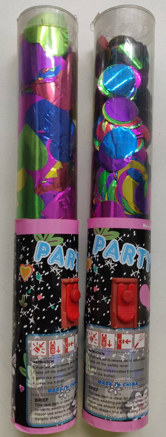 Party Poppers with button