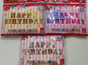 Happy Birthday Foil Balloon Set