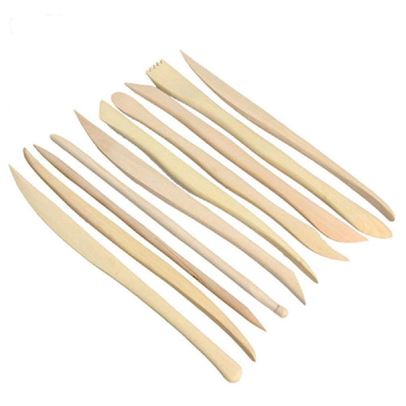 Double Sided Wooden Clay Tools set