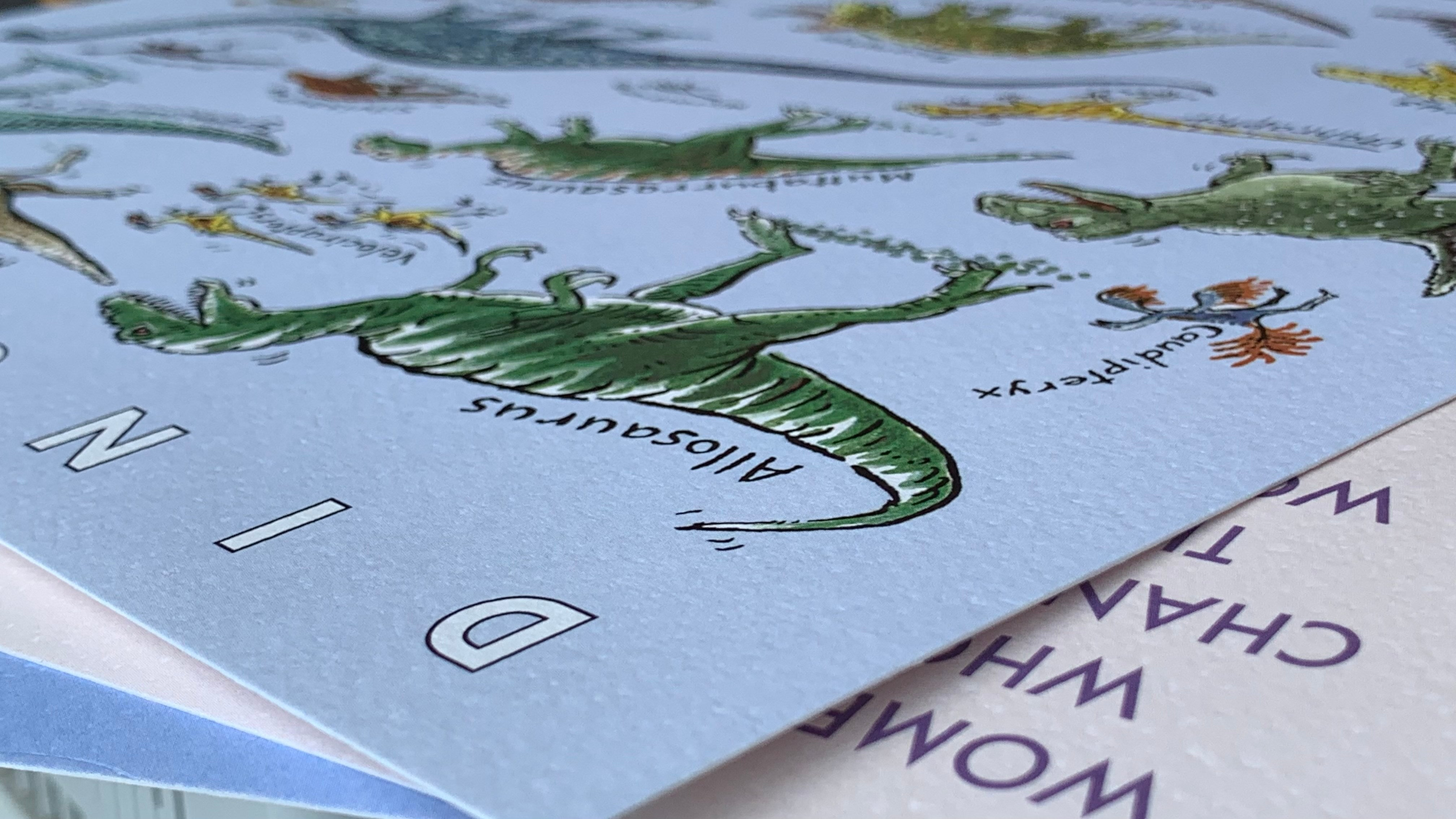Close up detail of A3 print - printed on 300gsm textured card