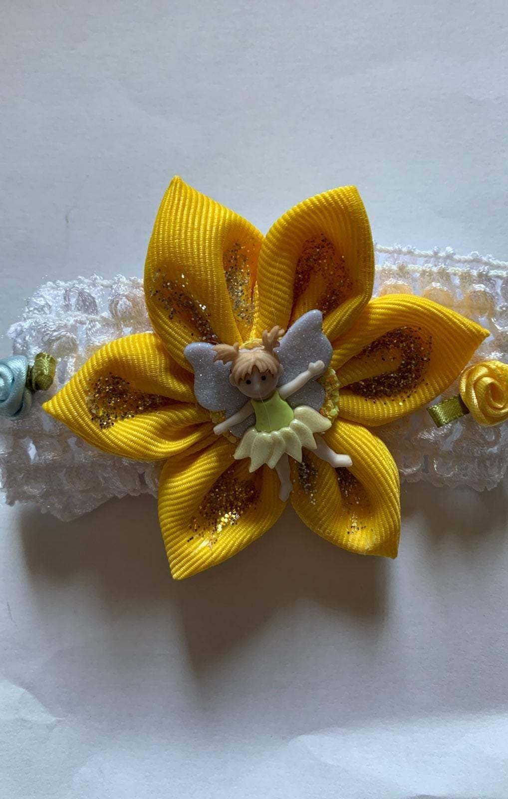 Yellow Flower Fairy headband