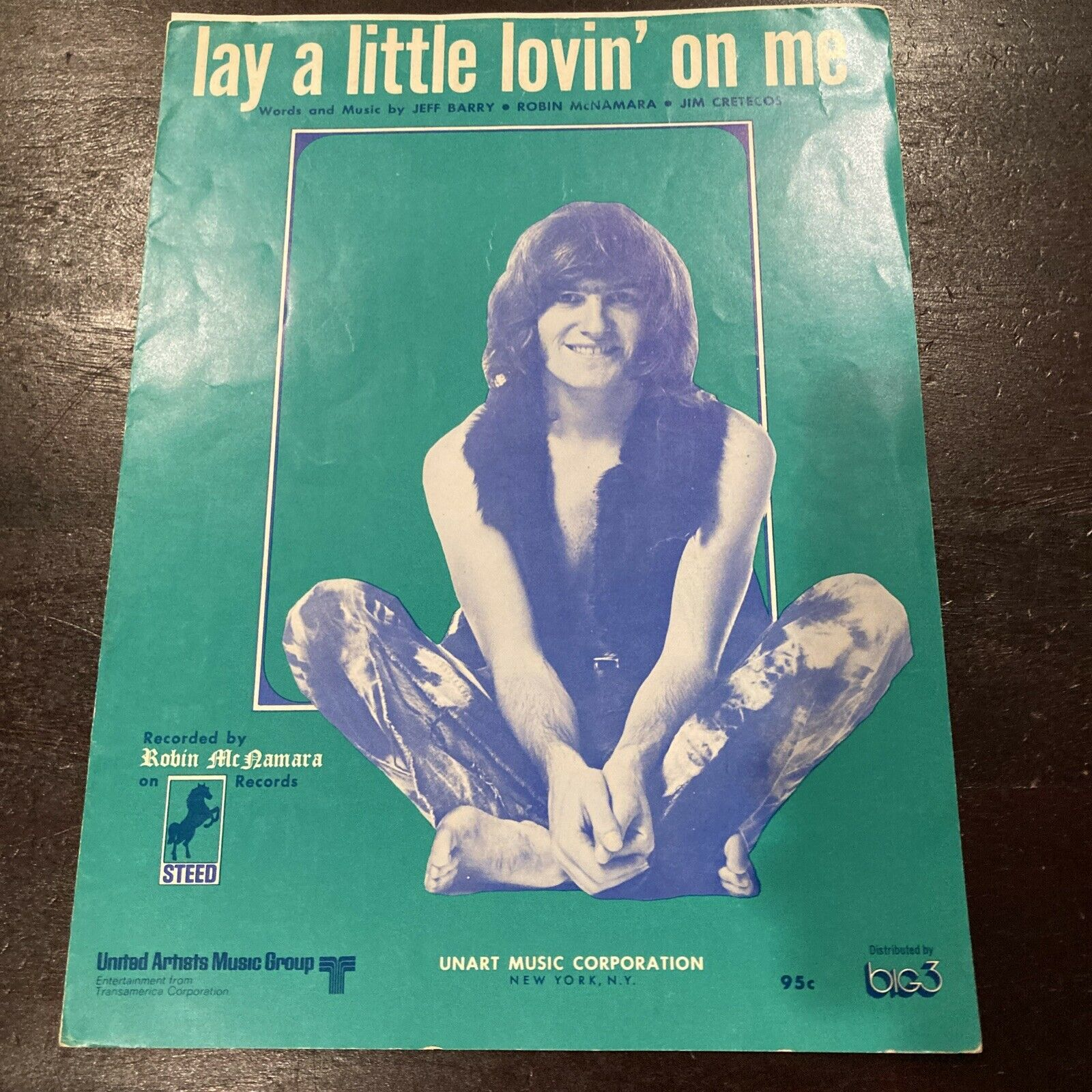 LAY A LITTLE LOVIN' ON ME Sheet Music ROBIN McNAMARA Pop #11 Hit 1970 Complete