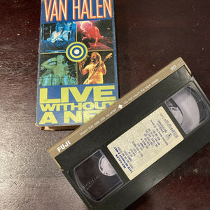 Van Halen - Live Without a Net VHS Tape 1986 Not Rated NTSC Warner Brothers RARE