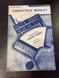 Christmas Medley 1942 PIETRO DEIRO Accordion Solo Vintage Sheet Music Xmas