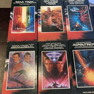 Star Trek The Movie Collection 1993 Paramount Pictures Box Set of 6 VHS Tapes