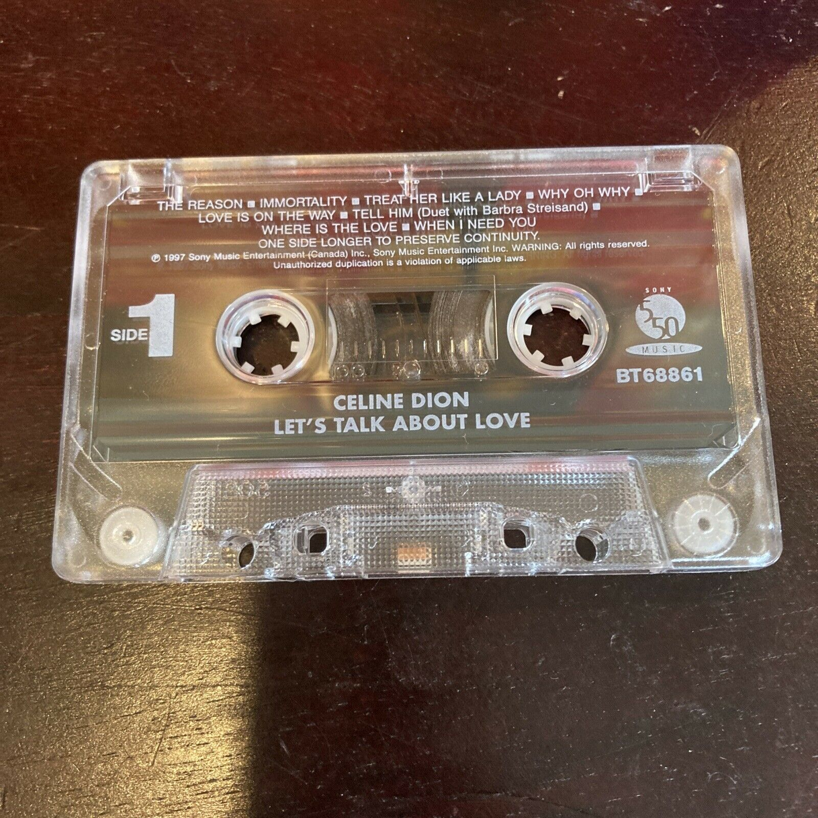 Celine Dion Let's Talk About Love Vintage Cassette Very NICE condition