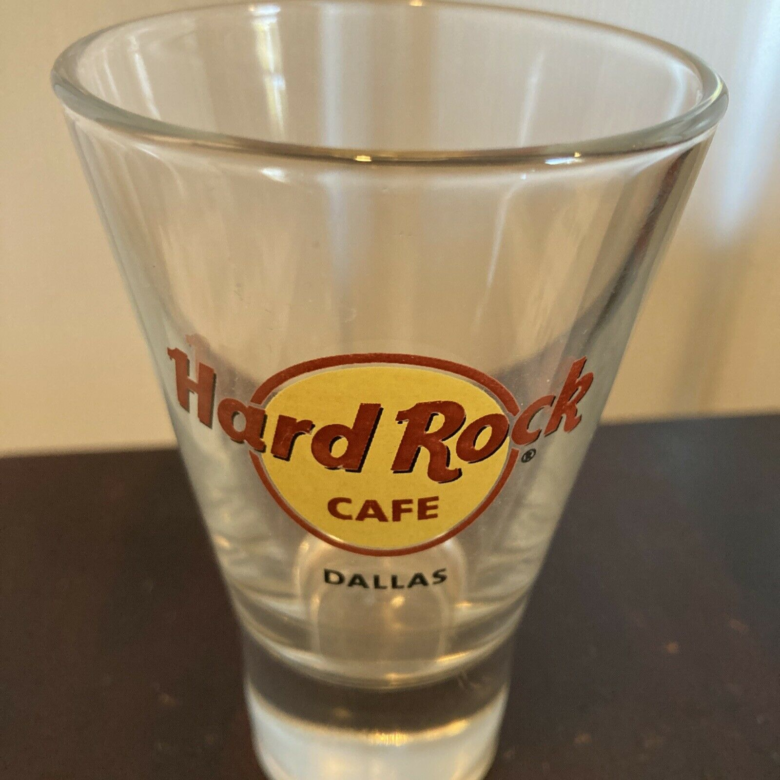 "Hard Rock Cafe 4"" Cordial Shot Glass DALLAS, TX (CLOSED) HRC"