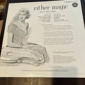 Zither Magic Ruth Welcome ST 1279 Lp Record Near Mint Amazing Condition Vinyl