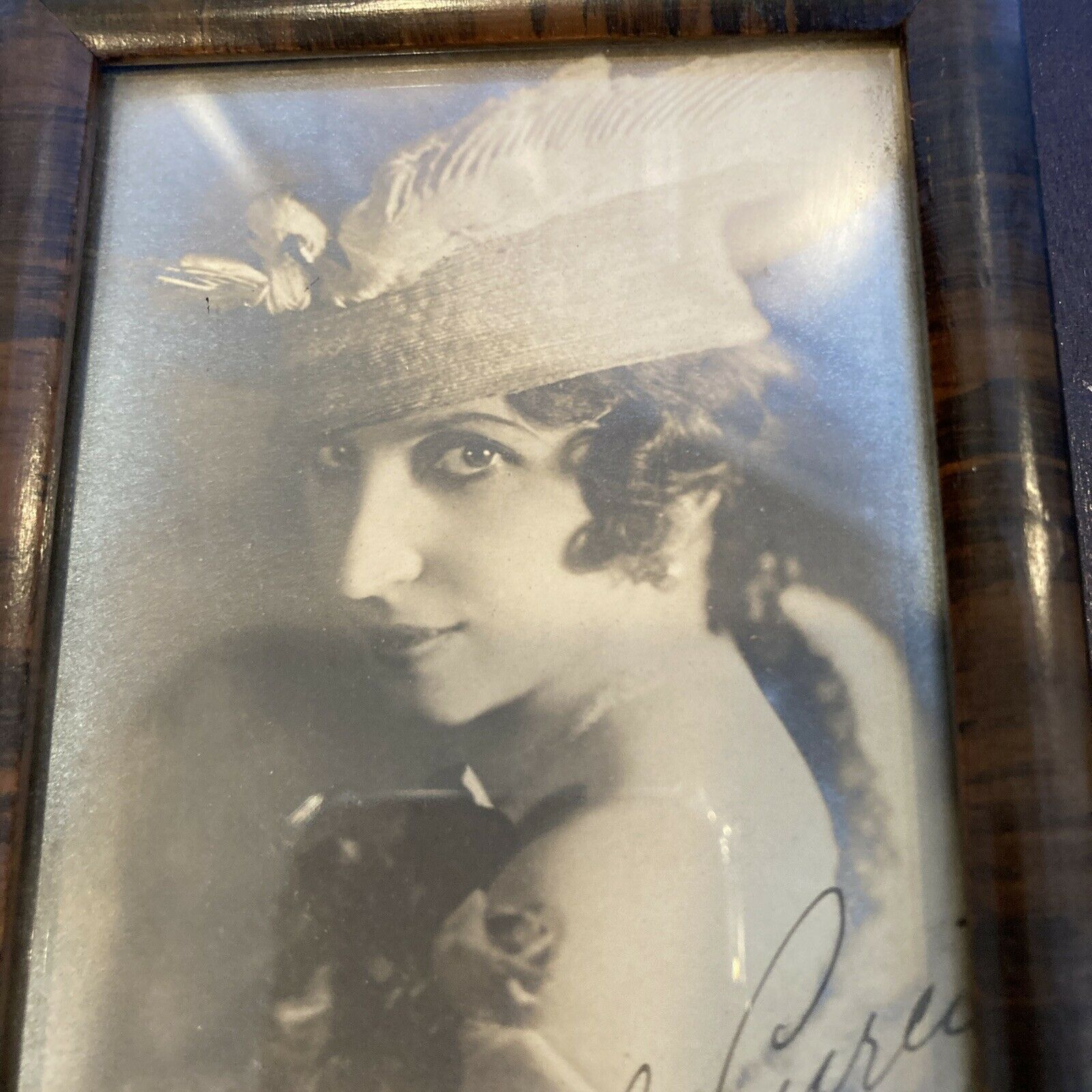 "Antique 1917 Hand Signed AMELITA GALLI-CURCI 3""X6"" Photograph OPERA Singer"