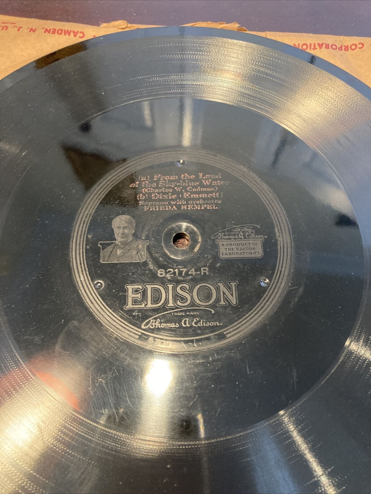 1920 Frieda Hempel DIXIE From the land of Sky-Blue Water EDISON Disc 82174 78