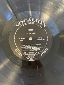 Here's Patsy Cline Vocalion VL 73753 Stereo LP Vinyl Record Album Open Shrink NM