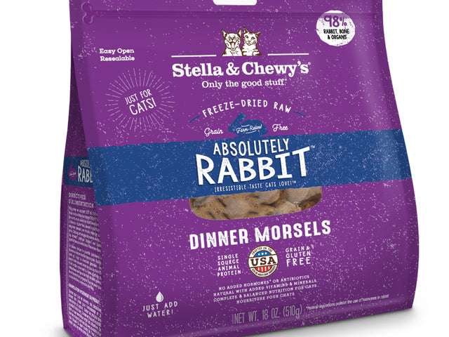 Repas lyophilisé pour chat Stella & Chewy's dinner morsels Lapin