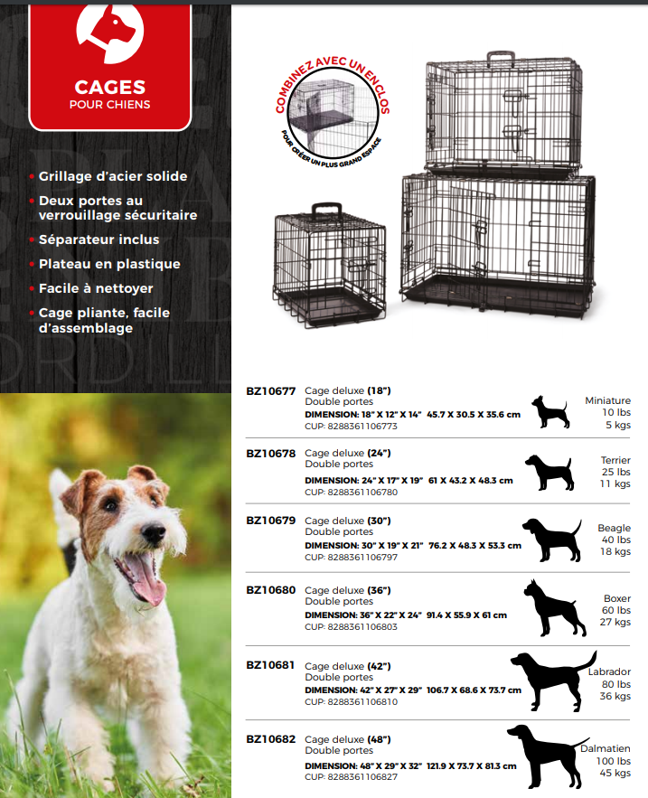 Cage pour chiens Bud'z