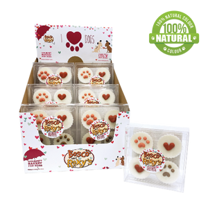 Biscuit pour chiens-  Valentine's Treat Cups, WOOF