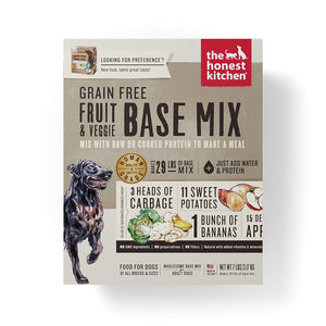 Nourriture déshydraté Honest Kitchen Preference Base Mix Fruits et Légumes Sans Grain