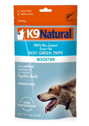 Tripe verte de bœuf topper K9 Natural 2oz