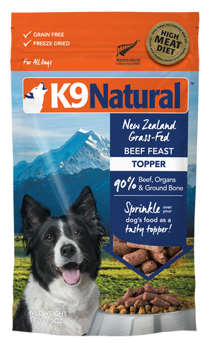 K9 natural food toppers lyophilisée bœuf 5 onces