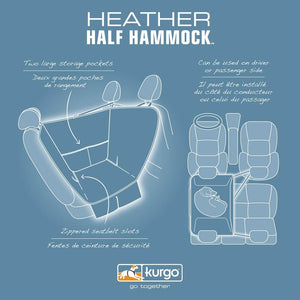 Demi-Hamac Pour Auto Kurgo Heather