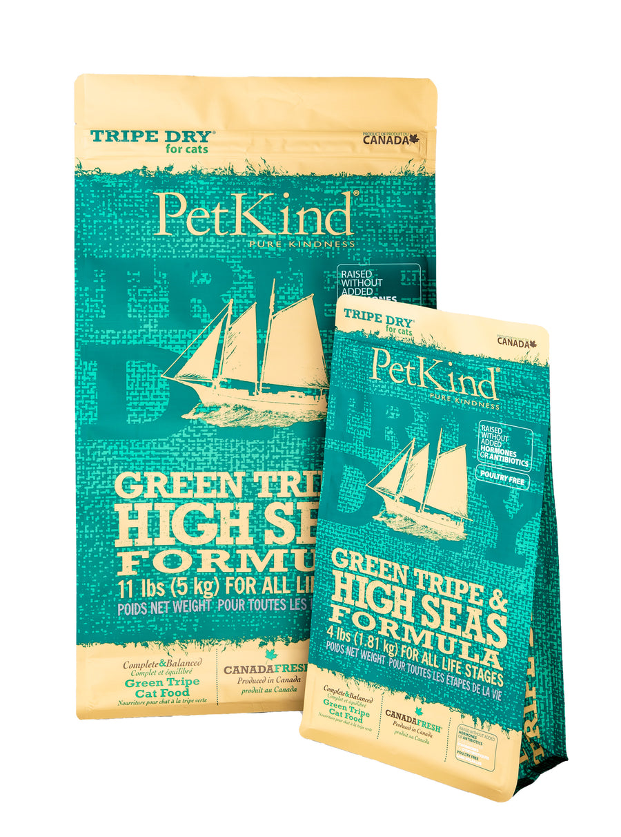 Nourriture pour chat Petkind Green Tripe & High Seas