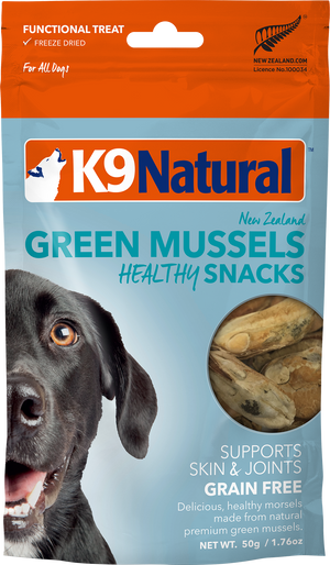 Gâteries pour chien K9 Natural Moules Vertes Healthy Snacks