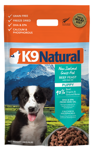 Nourriture pour chiots K9 Natural Freeze-Dried Boeuf