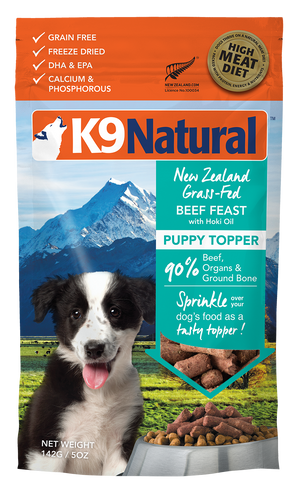 K9 Natural Toppers lyophilisé Puppy Boeuf 140g