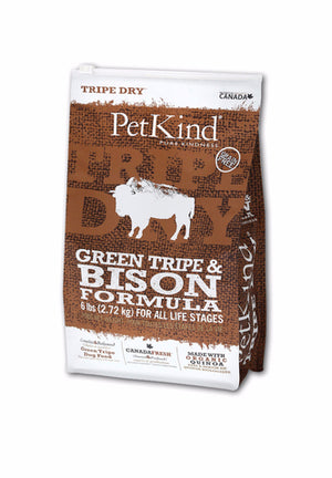 Tripett PetKind Green Tripe & Bison Formula Dry Dog Food