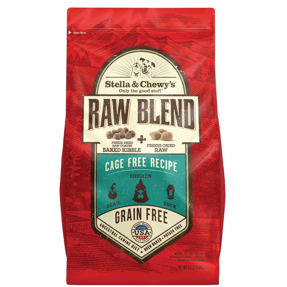 Nourriture pour chien Stella & Chewy's Cage-Free Raw Blend