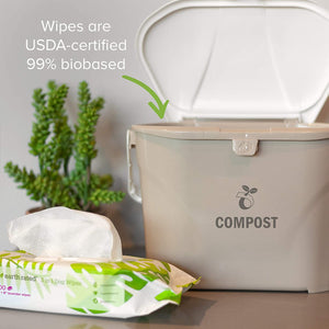 100 lingettes compostables Earth rated