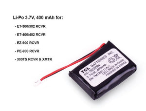 Batterie Lithium 3.7V 400MAH E-collar Technologies