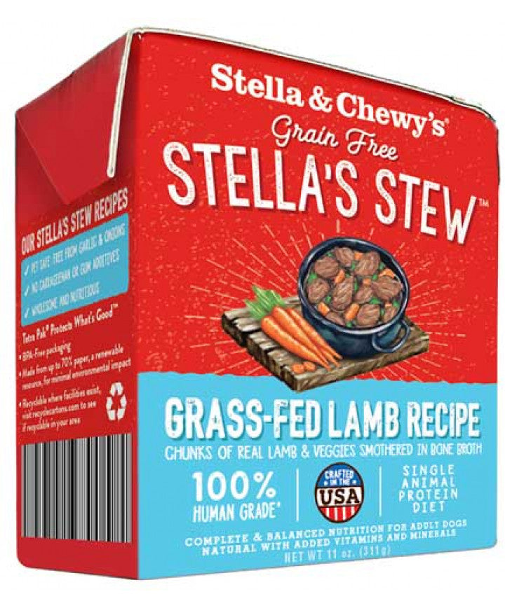Nourriture humide pour chiens Stella's Stews Grass-Fed Lamb Recipe 12x 11oz
