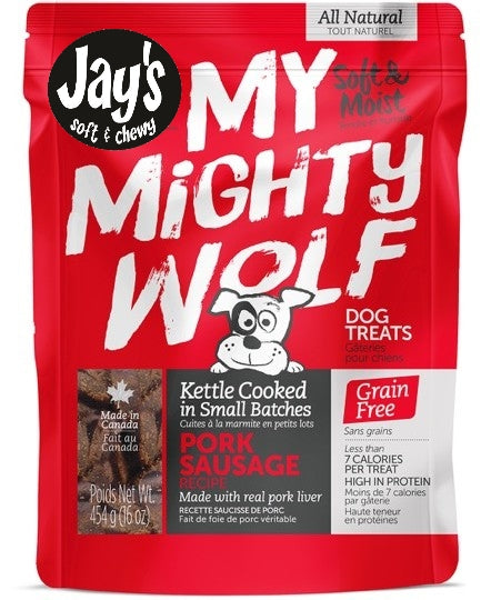 Gâteries pour chiens Waggers Mighty Wolf porc