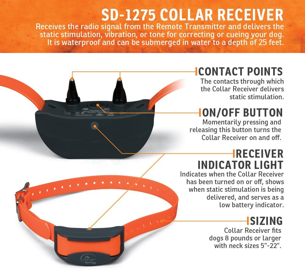 Collier de dressage SportDog SD-1275E 1200M