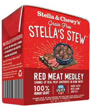 Nourriture humide pour chiens Stella's Stews Red Meat Medley