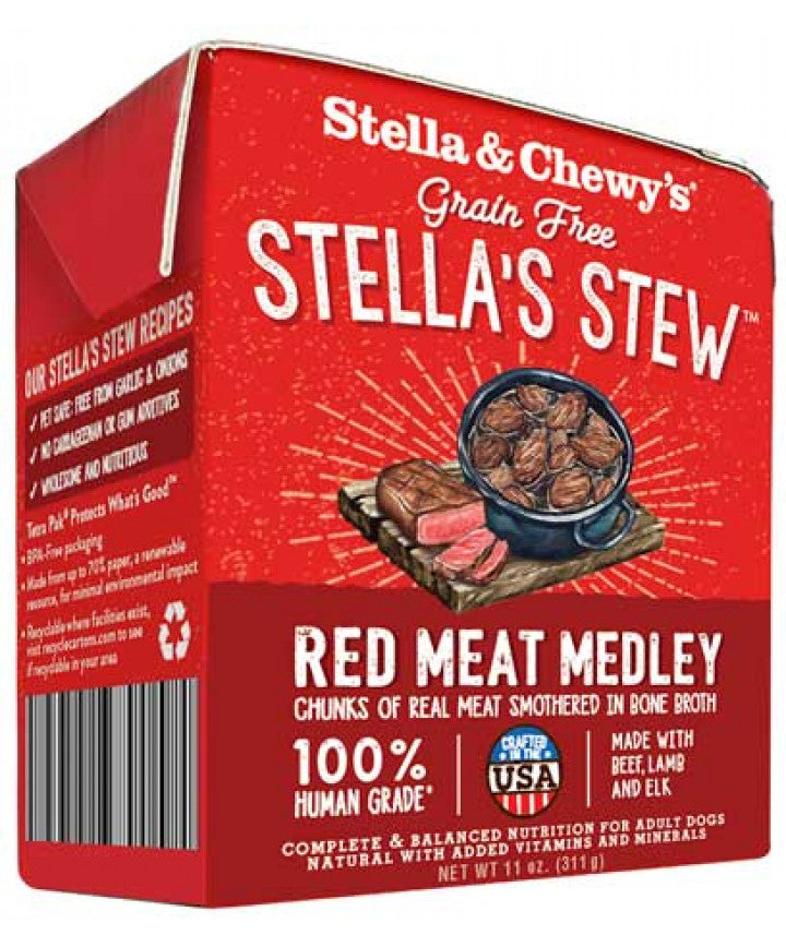 Nourriture humide pour chiens Stella's Stews Red Meat Medley 12x 11oz