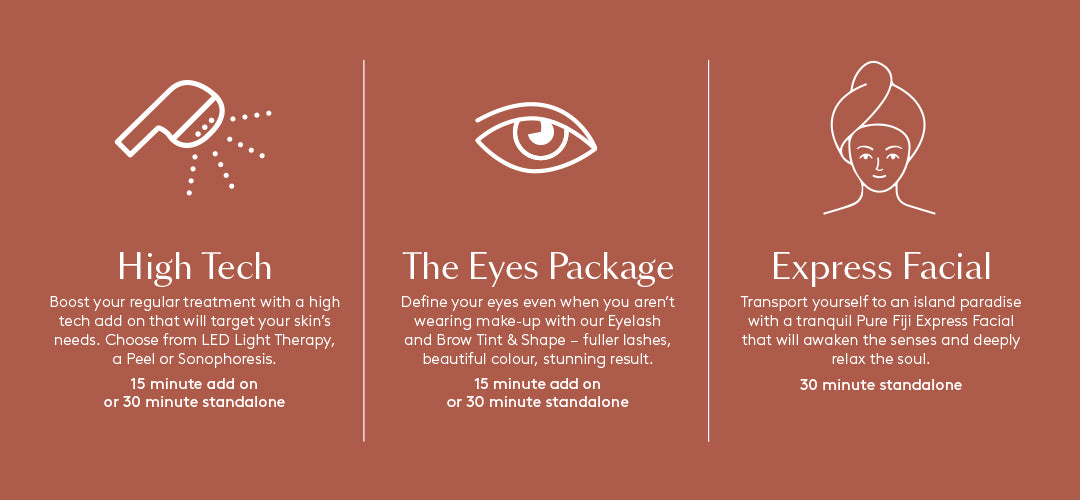 Choose from one of five FREE^ treatments